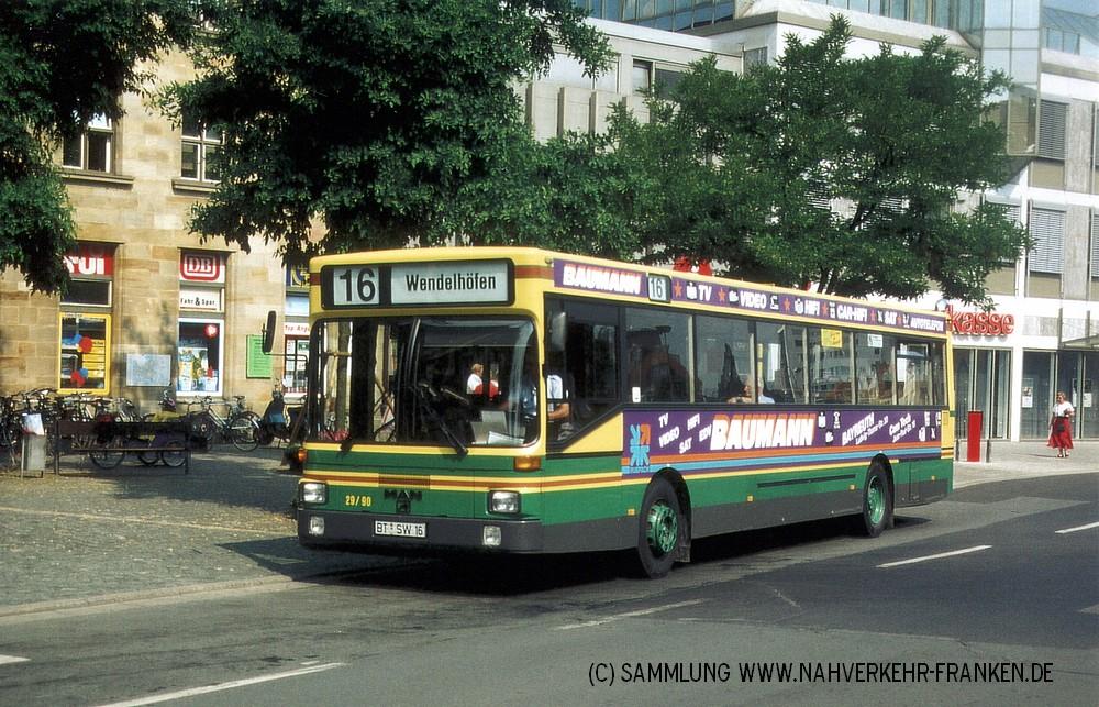 Wagen 16 mit seiner zweiten Reklame im Jahr 1995